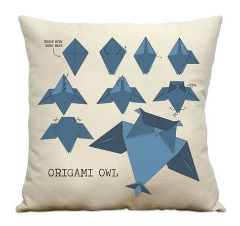 Origami Owl Etsy - owl origami pillow 16 handmade printed