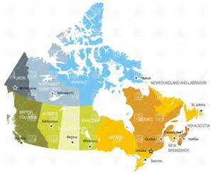 map of canada and territories map of provinces and territories of canada vector image