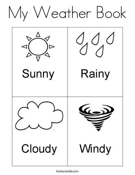 printable activities for children s books my weather book coloring page from twistynoodle com