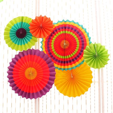 How To Make Tissue Paper Fans - 6pcs set tissue paper fan craft event decoration