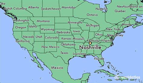 Where Is Nashville Tn Nashville Tennessee Map