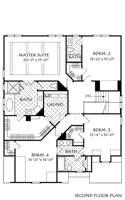 HARBINS LANDING House Floor Plan   Frank Betz Associates