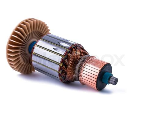Electric Motor Coil by Copper Coils Inside Electric Motor Stock Photo Colourbox
