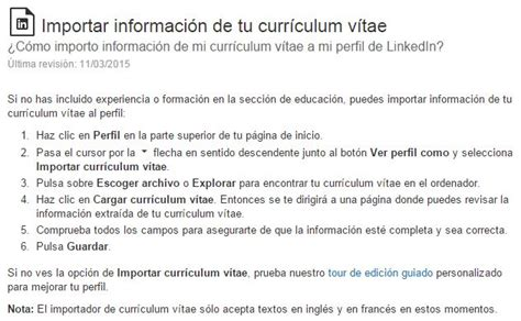 Modelo Curriculum Linkedin C 243 Mo Importar Tu Curr 237 Culum A Linkedin Modelo Curriculum