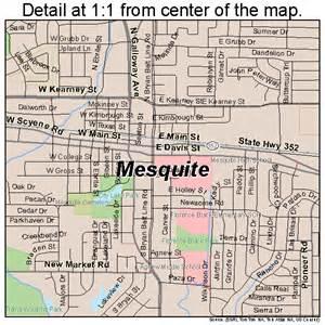 map mesquite mesquite map 4847892