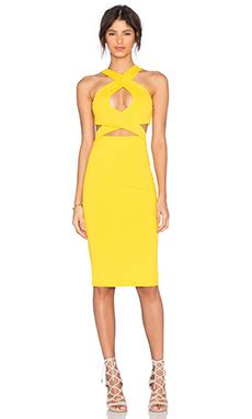 Donma Dress Yellow by Flaunts Cleavage In Low Cut Yellow