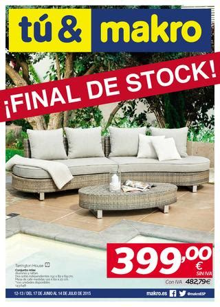 muebles jardin makro makro espana ofertas final de stock peninsula by