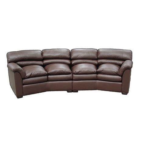 conversation couch canyon conversation sofa by omnia leather usa made