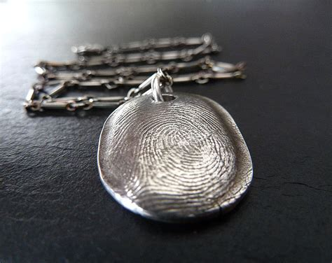 fingerprint necklace personalized by renataandjonathan on