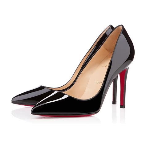 Christian Louboutin pigalle 100 black patent leather shoes christian louboutin
