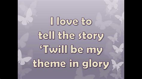 Story I | i love to tell the story by alan jackson youtube