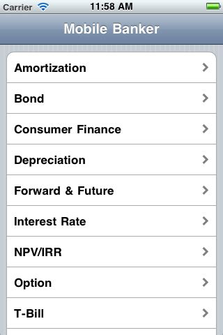 mobile banker mobile banker time value of money ios app