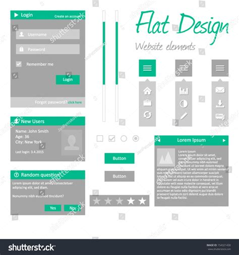 html design checkbox flat design website elements modern template version