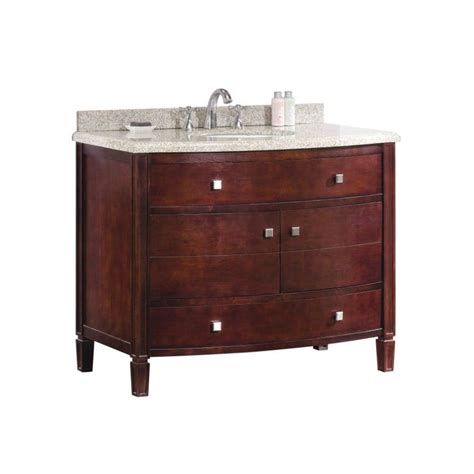 Lowes Bathroom Vanity Tops Shop Ove Decors 42 In X 22 In Tobacco Undermount Single Sink Bathroom Vanity With Granite Top At
