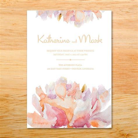 painted watercolor wedding invitations wedding invitation floral flowers watercolor painted