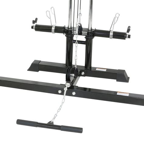 half rack weight bench mirafit half power cage rack cable pull with
