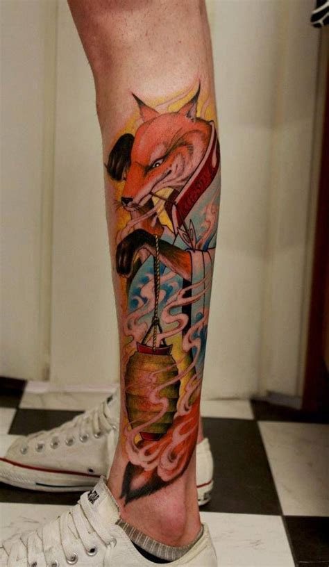 japanese animal tattoo gallery fox tattoo japanese style by tattoo artist thomas gramm