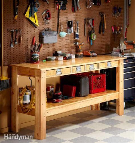 workshop bench ideas simple workbench plans the family handyman