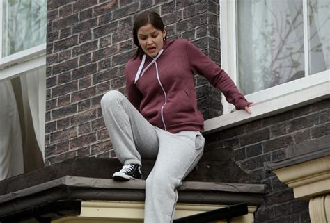 louise looks at the from her bedroom window her bedroom window lauren escapes through her bedroom