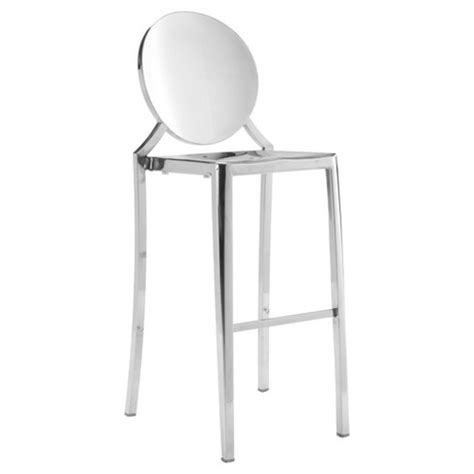 Stainless Steel Bar Stools Target by Modern Polished Stainless Steel Bar Chair Set Of 2 Target