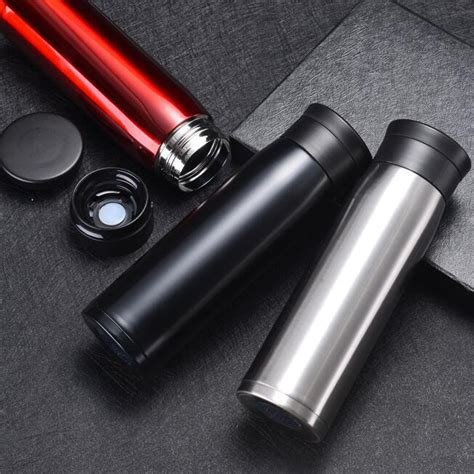 Botol Minum Stainless Cars botol minum thermos stainless steel elegan 550ml black
