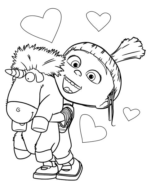 agnes unicorn coloring page despicable me agnes unicorn coloring pages www pixshark