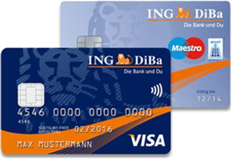 kreditkarten im test 2014 kostenloses ing diba girokonto mit kreditkarte im test 2018