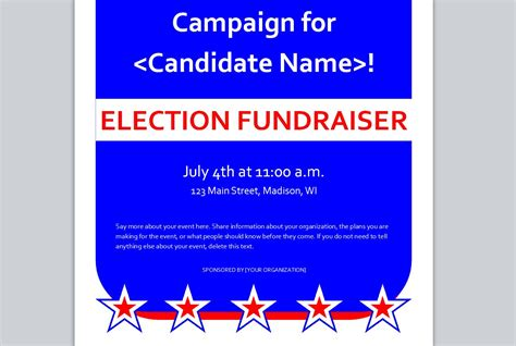 political templates political fundraiser invitation template pictures to pin