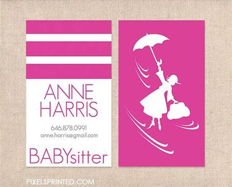 nanny business card templates sle business cards for nanny gallery card design and
