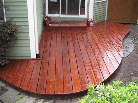 cedar decking  mahog flame custom stain seal  deck