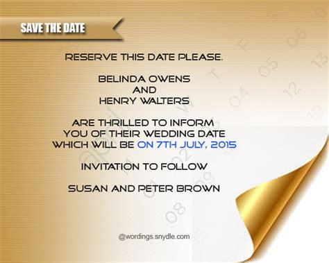 Wedding Date Announcement Wording by Save The Date Wording Sles Wordings And Messages