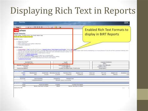 maximo communication template ppt rich text formatting in maximo and smartcloud