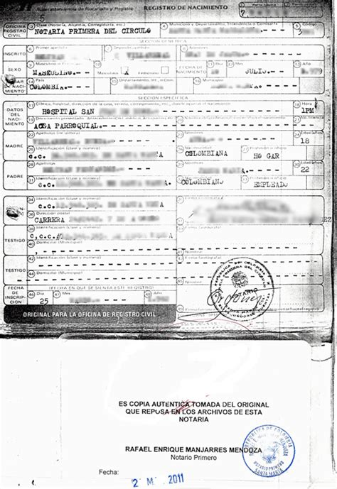 Mexico Birth Certificate Records Birth Certificate Translation Exles Image Collections Certificate