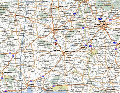 road map of alabama maps and state information