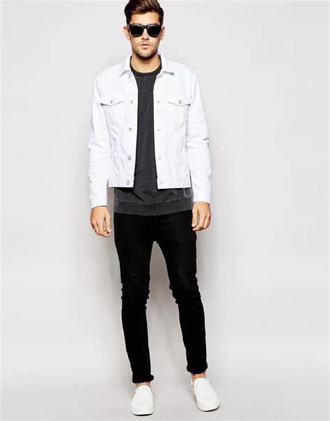 White Fashion Jacket Jones White Denim Jacket In White For Lyst