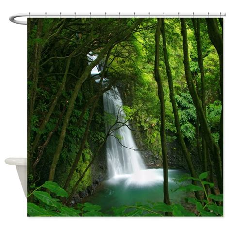 waterfall shower curtain waterfall in azores shower curtain by azoresphotos