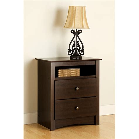 how tall should a nightstand be prepac edenvale 2 drawer tall nightstand with open cubbie