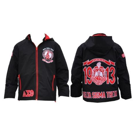 Jk0001 Jaket Ndx Aka Sweater Hodie delta sigma theta sorority black sleeve windbreaker s 3xl clothing shoes accessories