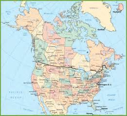 Map Of The Usa And Canada by Usa And Canada Map