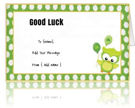 luck greeting card template luck cards