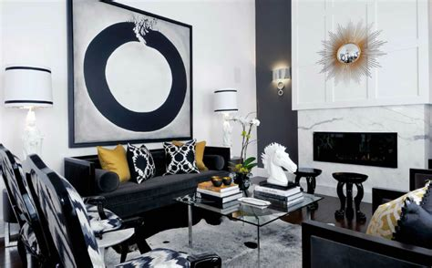yellow black and white living room 25 black and white decor inspirations