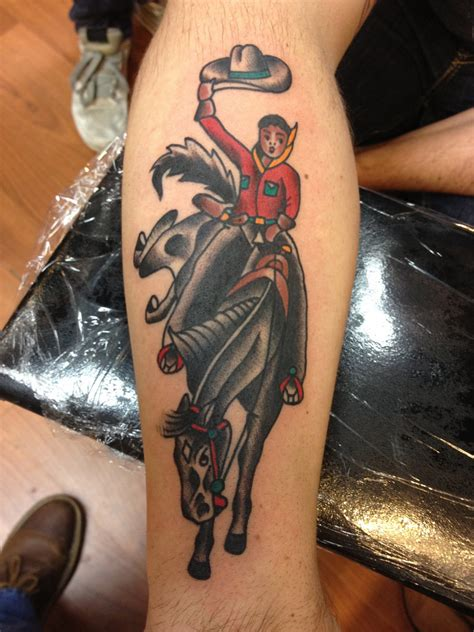 traditional cowboy tattoo by krooked ken at black anchor t