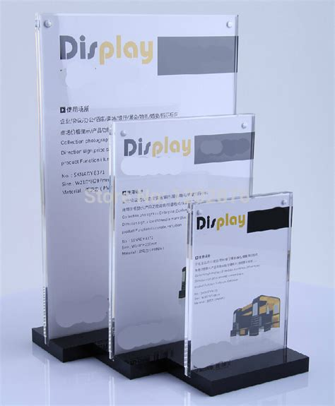 desk display stand a4 acrylic magnetic desktop display stand acrylic tabel