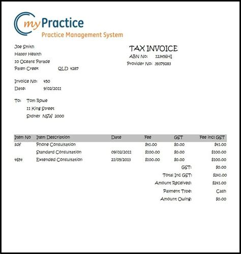 psychologist receipt template 26 images of invoice template for therapeutic counseling