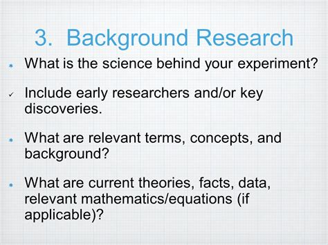 How To Make Background Of The Study In Research Paper - science fair background research paper ppt