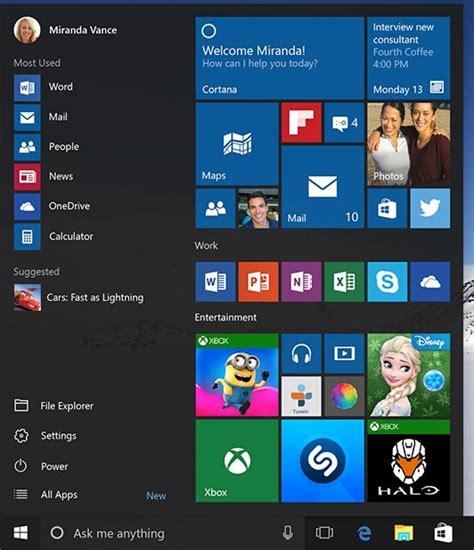 imagenes de inicio windows 10 microsoft
