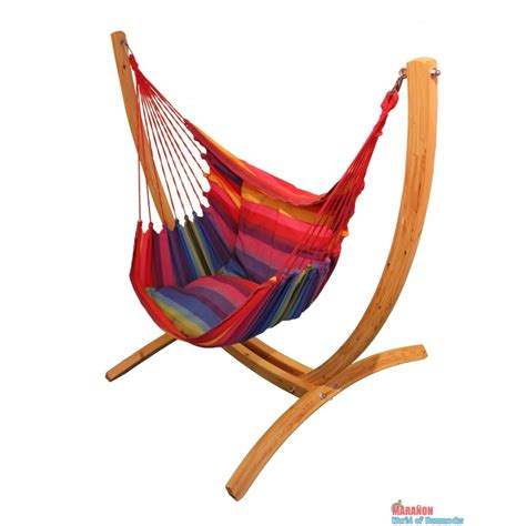 lazyrezt xl hanging chair with wooden arc stand set