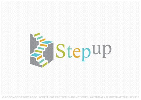 design a logo steps readymade logos for sale step up staircase readymade