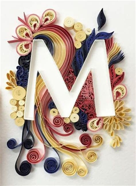 How To Make Paper Quilling Letters - 1000 images about abcs monograms words numbers quilled on