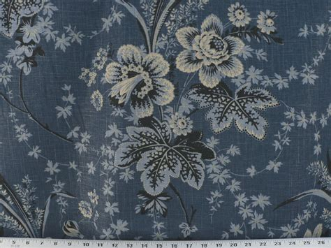 Blue Ikat Upholstery Fabric Drapery Upholstery Apparel Fabric Mottled Floral Denim